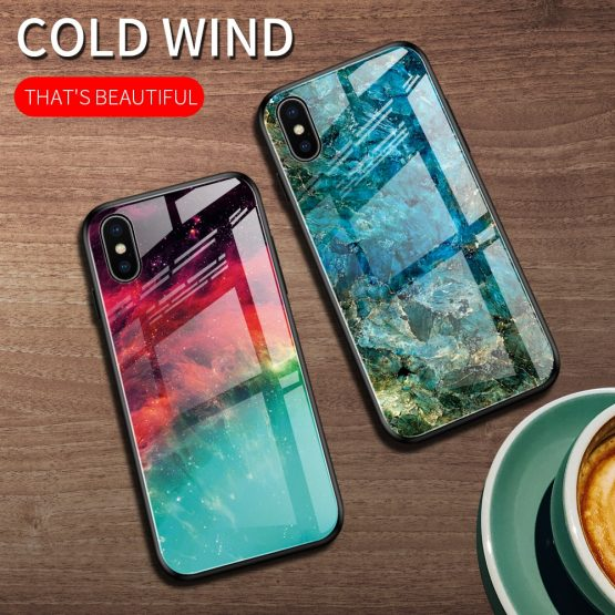 Heyytle Gradient Tempered Glass Case For iPhone 7 8 Plus 6 6s Starry Sky Cases Heyytle Gradient Tempered Glass Case For iPhone 7 8 Plus 6 6s Starry Sky Cases For iPhone X XS XR 11 Pro Max Painted Space Cover.