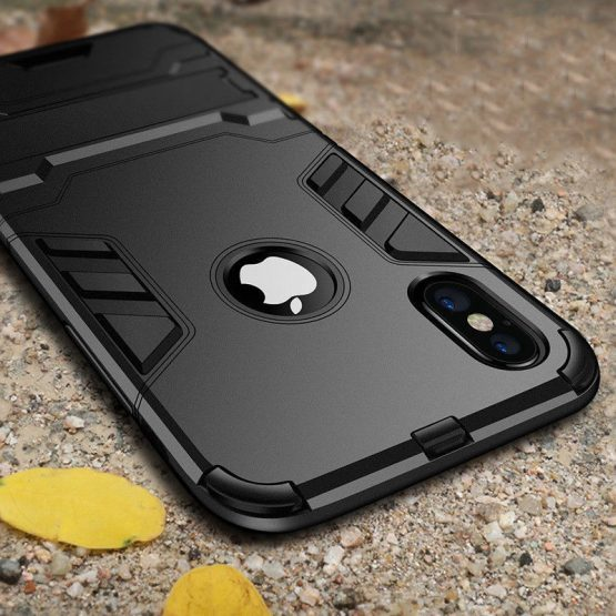 Luxury Stand Armor Phone Holder Case For iPhone 78 6 6S Plus X XS XS max Luxury Stand Armor Phone Holder Case For iPhone 78 6 6S Plus X XS XS max Hybrid TPU+Hard PC ShockProof Cover for iphone 5 5S SE.