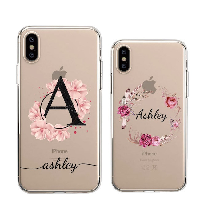 Custom Personalization Name Vintage Flower Wreath Bouquet Phone Soft Clear Case For iPhone 11 Pro Max XS Max XR X 7Plus 8Plus