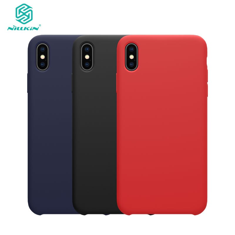 For Apple iphone X XR case NILLKIN Flex Pure CASE Slim Soft Liquid Silicone Shockproof Phone Case Cover For iphone XS 11 Pro MAX
