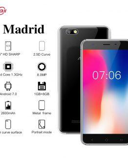 AllCall Madrid 3G SmartPhone 5.5-Inch 1280x720 Pixels HD Display MTK6580 Quad-core 1GB RAM 8GB ROM 8MP+2MP Cameras Mobile Phone