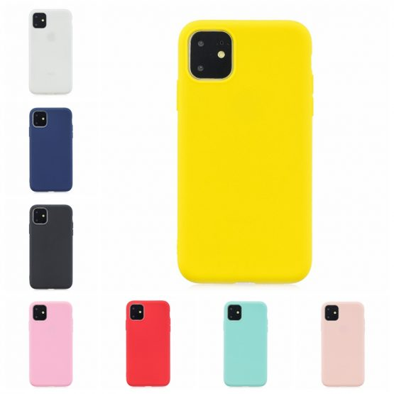 Candy Color Phone Case For Coque iPhone 11 Pro Max Soft Silicon TPU Back Case For Etui iPhone 6 7 8 Plus X XR XS Max Back Cover