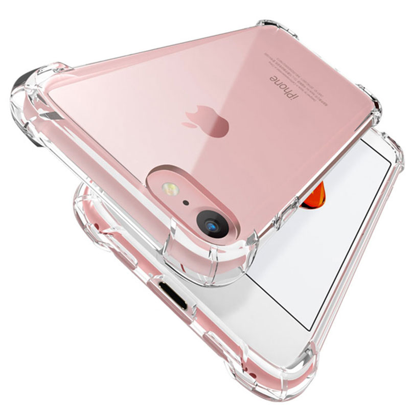 Luxury Shockproof Silicone Phone Case For iPhone 7 8 6 6S Plus 7 Plus 8 Plus 11 Pro XS Max XR X Case Transparent Protection case
