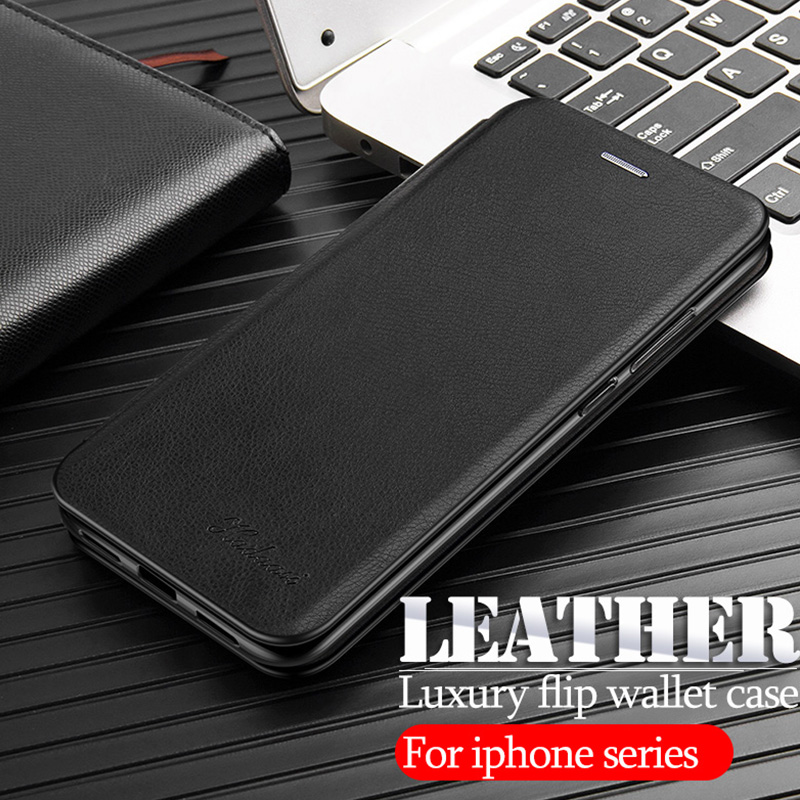 leather stand case For iphone 11 pro 2019 x xs max xr flip wallet cover cases on the For iphone 6 7 8 plus phone coque fundas