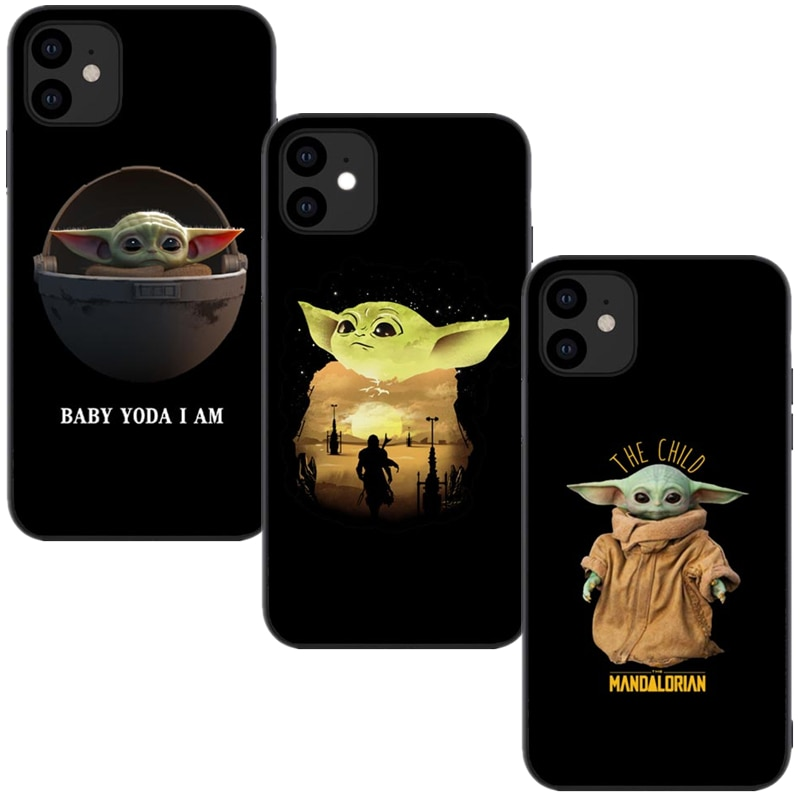 Phone Case For iPhones 11 Pro Max New Cute Baby Yoda Meme Soft silicone Tpu Cover For iPhones 6 6s 7 8 Plus X XR XS MAX