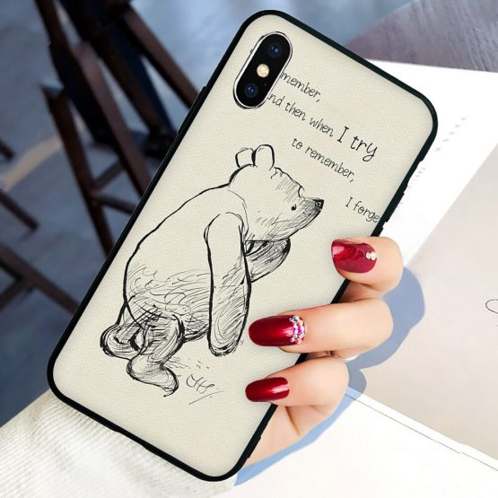 Winnie the Poohs Quotes Soft Silicone phone cover case for iphone 5 Winnie the Poohs Quotes Soft Silicone phone cover case for iphone 5 5S SE 6 6S 7 8 plus X XR XS 11 Pro Max.