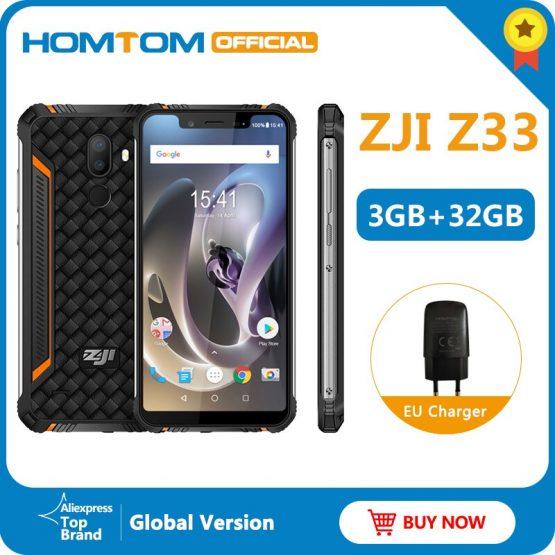 "HOMTOM ZJI Z33 IP68 Waterproof Phone 4600mAh 3GB 32GB 5.85"" Smartphone Android 8.1MTK6739 Face ID Unlock 4G FDD-LTE Mobile Phone"