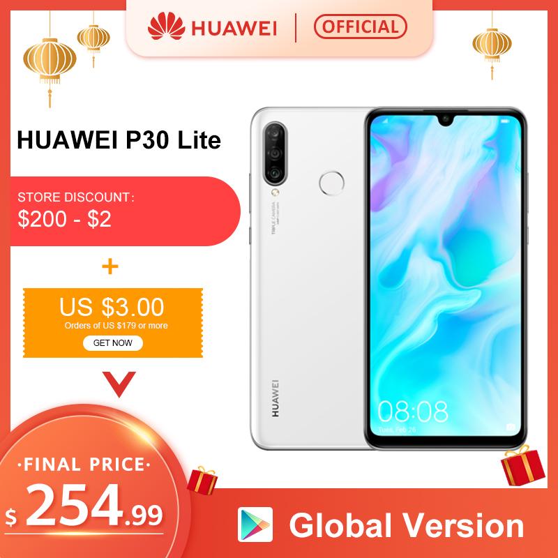 Global Version Huawei P30 Lite 6GB 128GB Smartphone P30Lite 6.15 inch Kirin 710 Octa Core Mobile Phone EMUI Android 9 CellPhone