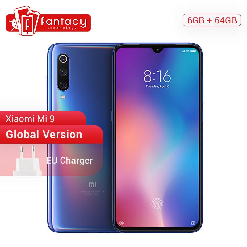 "Global Version Xiaomi Mi 9 Mi9 Snapdragon 855 6GB 64GB 6.39"" AMOLED Display Fingerprint Smartphone 48MP Triple Camera Smartphone"