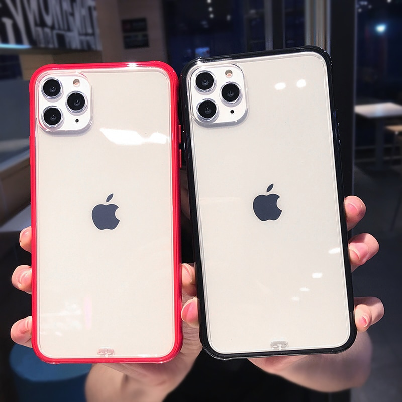 Shockproof Silicone Phone Case For iPhone 11 11Pro Max X XS XR XS Max 8 7 Plus 6 6S Plus Case Transparent Protection Back Cover