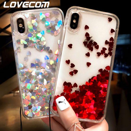 Glitter Sequin Quicksand Transparent Phone Case For iPhone 11 Pro Max XR X XS Max 7 8 6 Plus Case Soft TPU Full Body Phone Cover