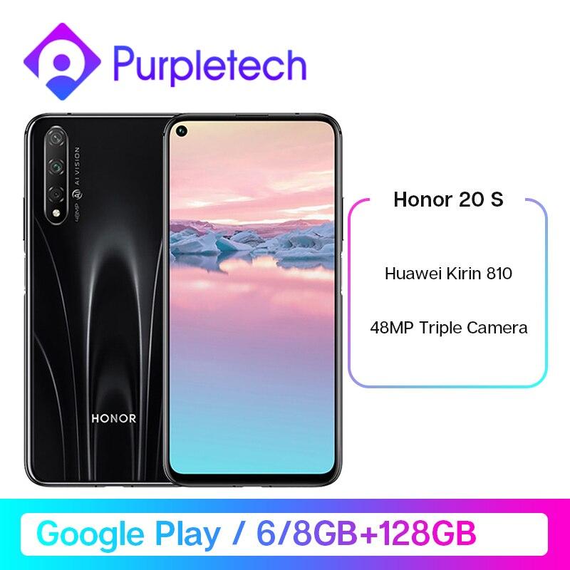 "Original Honor 20S 20 S Kirin 810 Octa Core Smartphone 48MP Rear 32MP Front Camera 6.26"" 2340×1080 FHD+ 3750mAh Mobile Phone"