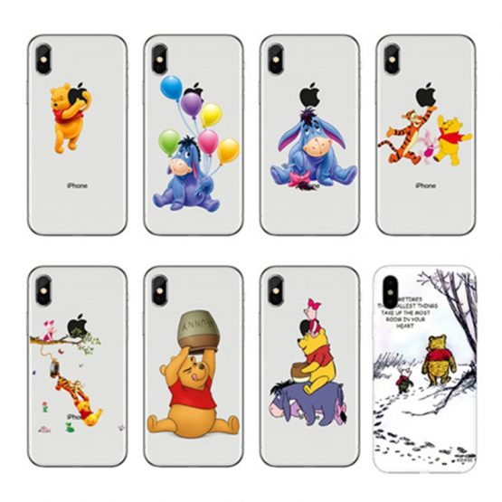 Winnies Poohs Cartoon Naughty Lovely Eeyore Soft TPU Phone Case For iPhone 11 11Pro Max X XR XS Max 8 8Plus 7 7Plus 6 6Plus 5 SE