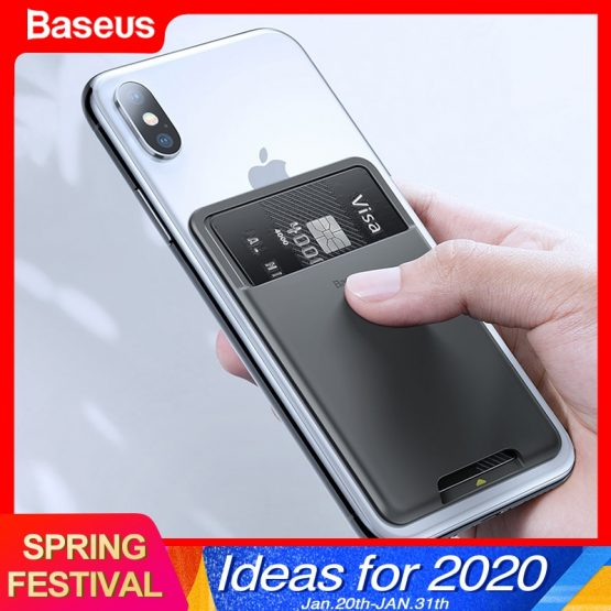 Baseus Universal Phone Back Slot Card Wallet Case For iPhone 11 Pro Max Baseus Universal Phone Back Slot Card Wallet Case For iPhone 11 Pro Max X Xs Luxury Silicone Phone Pouch Case For Samsung Xiaomi.
