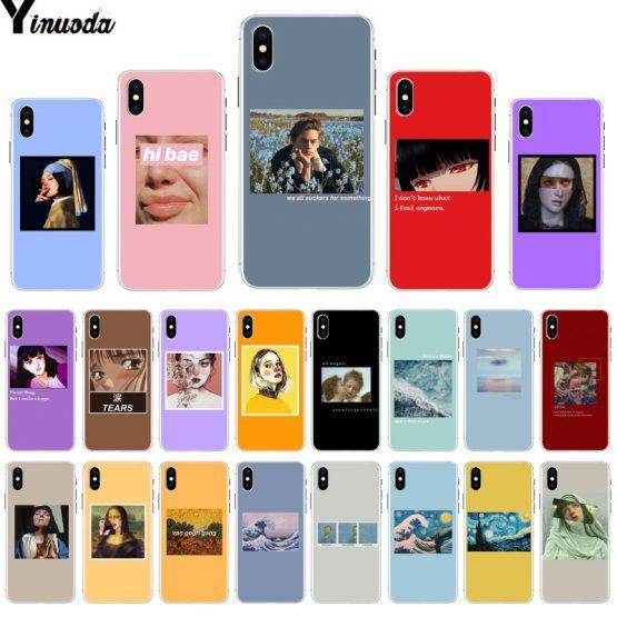 Yinuoda Great art aesthetic van Gogh Mona Lisa David Beautiful Phone Case for iPhone 8 7 6 6S Plus X XS MAX 5 5S SE XR 11 Pro