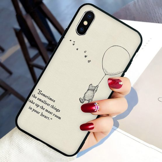 Winnie the Poohs Quotes Soft Silicone phone cover case for iphone 5 5S SE 6 6S 7 8 plus X XR XS 11 Pro Max