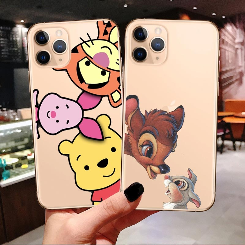 Phone Case stitch for iPhones 6 s 7 8 Plus X XS MAX XR Funny Cute Bambi Soft tpu Cover For iPhones 11 Pro Max 2019 5.8 6.1 6.5