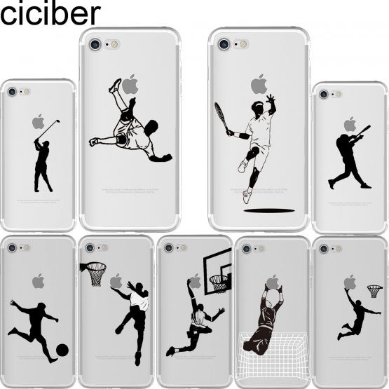ciciber Baseball Football Tennis Sports Soft TPU Phone Cases Cover for Iphone 11 Pro Max 6 6S 7 8 Plus 5S SE X XR XS Max Fundas