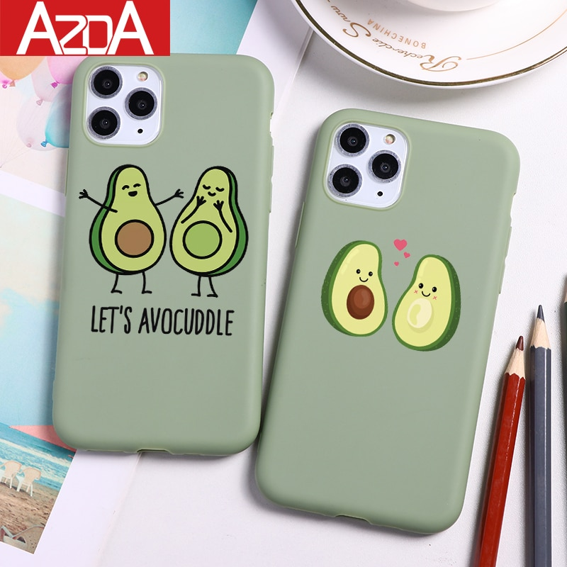 Avocado Cartoon Cute Soft TPU Coque Phone Cases For iPhone 11 Pro Max XS Max X XR 7 8 6 6S Plus 5 5S SE Case Silicone Cover Capa