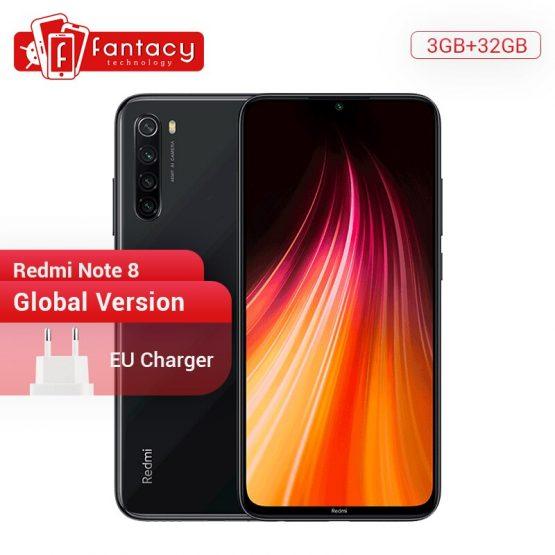 "Global Version Xiaomi Redmi Note 8 3G 32G 48MP Quad Camera Smartphone Snapdragon 665 Octa Core 6.3"" FHD Screen 4000mAh"