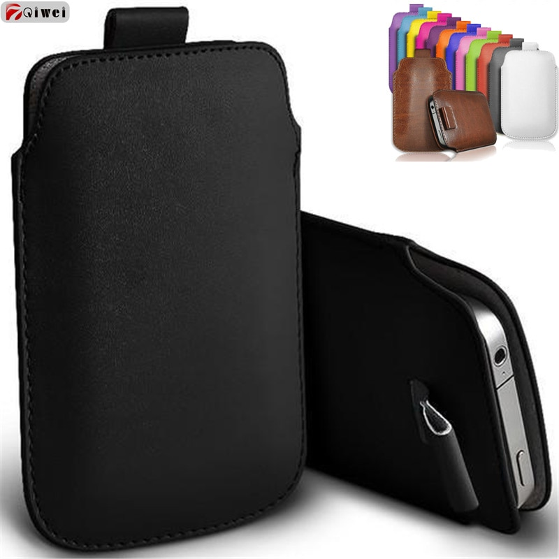 For iphone 7 Case Pocket Rope Pull Sleeve Pouch Case Cover For iphone 7 8 Plus X XR 5 SE 6 6S Leather Capa For iphone 11 Pro Max