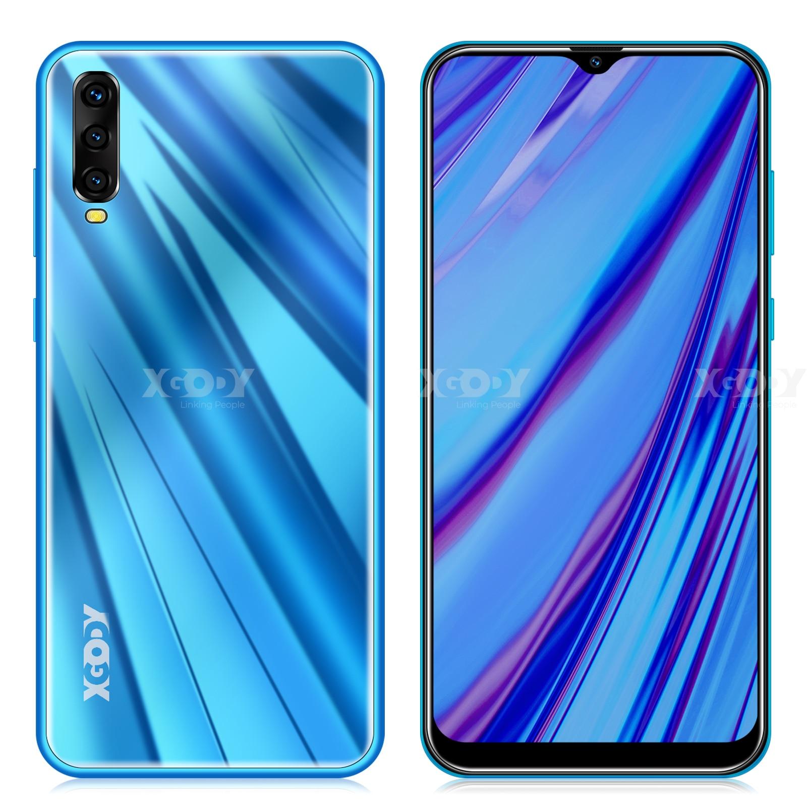 "XGODY A90 3G Smartphone 6.53"" 19:9 Android 9.0 2GB RAM 16GB ROM MT6580 Quad Core Dual Sim GPS WiFi Mobile Phone CellPhone"