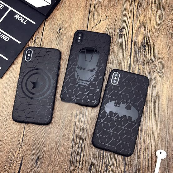 Marvel case for iphone X 11 PRO XS MAX XR 8 7 6 6s plus phone cover soft matte Marvel case for iphone X 11 PRO XS MAX XR 8 7 6 6s plus phone cover soft matte 3d silicon iron Man Spiderman Avengers coque CASE.