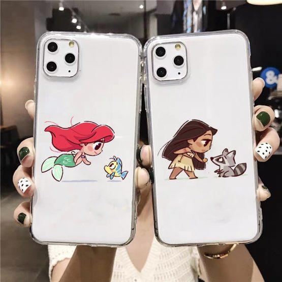 Mini Princesses Cute Mermaid Belle Snowwhite Silicone Coque Soft Phone Case Cover For Iphone 11 Pro Max X Xs Xr 7 8 Plus Cases