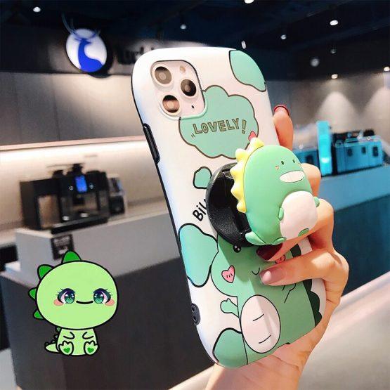IMIDO Cartoon Dinosaur Case For IPhone 11 X Xrxs Max 7 8 6 6splus Cute Unicorn Case For New IPhone 11 Pro Max Case