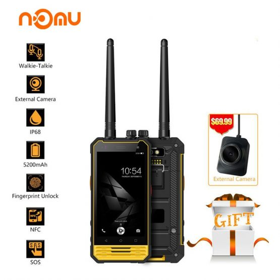 "Nomu T18 IP68 Walkie Talkie Waterproof 4G LTE Mobile Phone 4.7"" MTK6737T quad core Android 7.0 3GB+32GB 5200mAh NFC Smartphone"