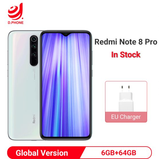 Xiaomi Redmi Note 8 Pro Global Version 6GB 64GB Smartphone 64MP Quad Camera Helio G90T Octa Core 4500mAh NFC Mobile Phone