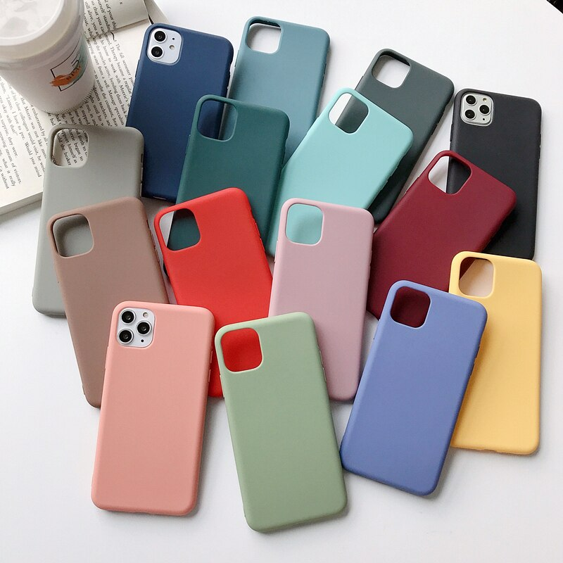 Phone Cases For iPhone 11 Pro MAX Case Silicone Candy Color Soft TPU Back Cover Case For iPhone 6 S 6S 7 8 Plus X XS MAX XR