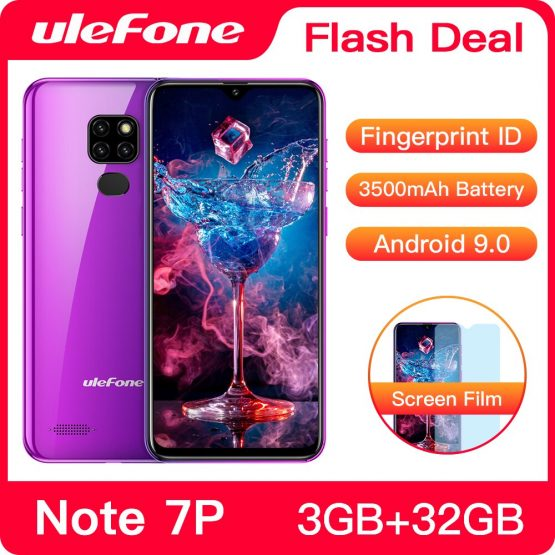 Ulefone Note 7P Smartphone Android 9.0 Quad Core 3500mAh 6.1 inch Triple Camera 3GB+32GB 4G Cell Phone Mobile Phone Android