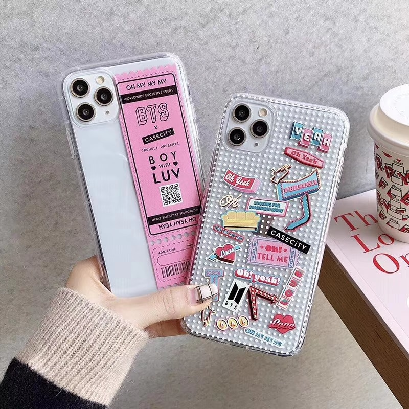 Bangtan Boys Concert ticket Phone Case For iPhone 11 11Pro XS Max XR X 6s 7 8 Plus Fashion Transparent Soft Shockproof Cover