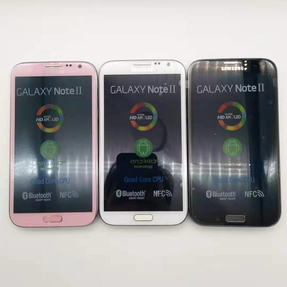 "100% Original N7100 Unlocked Samsung Galaxy Note 2 II N7100 Mobile Phone 5.5"" Quad Core 8MP GPS WCDMA Refurbished Smartphone"