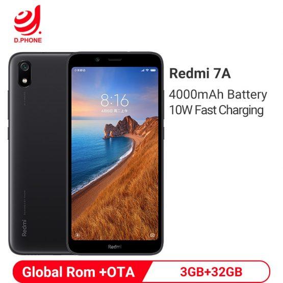 "Xiaomi Redmi 7A 3GB 32GB Smartphone 5.45"" Snapdragon 439 Octa Core 4000mAh Battery 12MP Camera Global Rom 4G Cellphone"