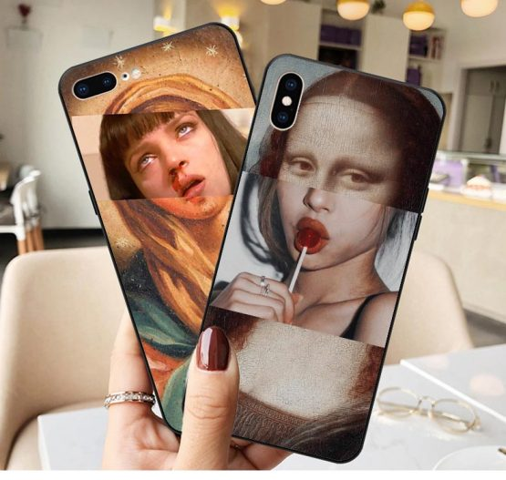Mona Lisa funny Spoof Art Paintings The Birth Of Venus Soft Cover Phone Case for iPhone 11 Pro Max X 5S 6 6S 7 8 Plus XR XS MAX