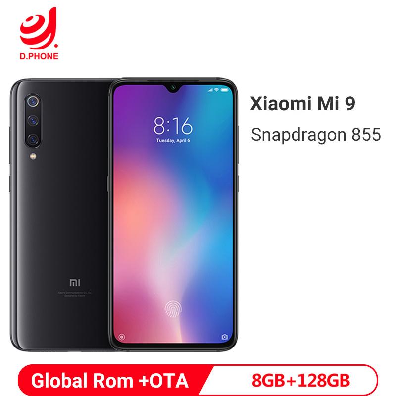 "Global ROM Xiaomi Mi 9 8GB 128GB Snapdragon 855 Octa Core Mobile Phone 6.39"" AMOLED 48MP Triple Camera Smartphone NO NFC"