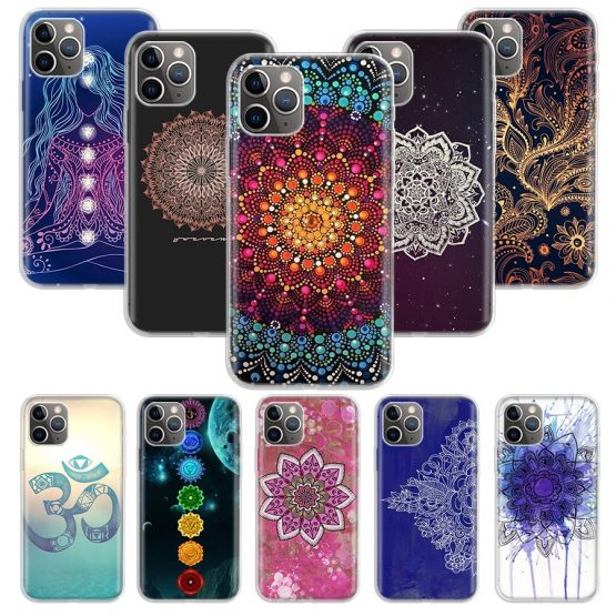 mandala chakra yoga Case for Apple iphone 11 Pro XS Max XR X 7 8 6 6S Plus mandala chakra yoga Case for Apple iphone 11 Pro XS Max XR X 7 8 6 6S Plus 5 5S SE 10 Ten Gift Silicone Phone Cover Coque.
