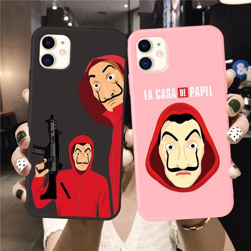 Spain TV Money Heist House Paper La Casa de papel phone case for iPhone 11 Pro Max soft Cover for iphone X XS MAX XR 7 6S 8 Plus