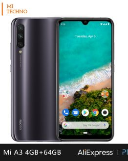 Xiaomi Mi A3 Smartphone(4GB RAM 64GB ROM Free mobile phone new cheap battery 4030mAh andriod one) [Global Version]