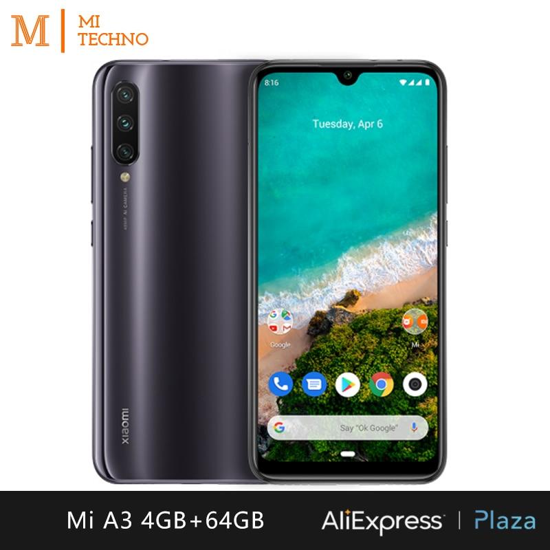 Xiaomi Mi A3 Smartphone(4GB RAM 64GB ROM Free mobile phone new cheap battery 4030mAh andriod one) [Global Version]