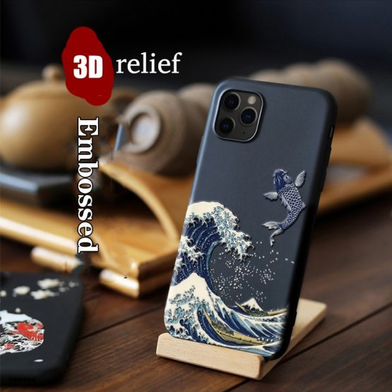 for iPhone 11 Pro Max XR XS Max XR X 8 7 Plus Case 3D Relief Matte Soft Back Cover LICOERS Official Case for iPhone 11Pro Case