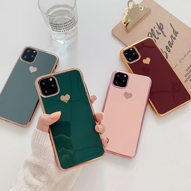 Silicon Heart Love Coupon Case For Iphone 6 6S 7 8 Plus X XS Max XR 11 Pro Max Cases Funda Slim For Iphone 11 Case Coque
