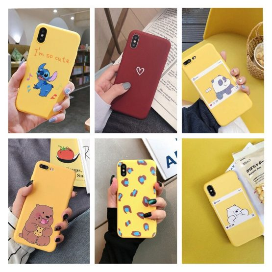 Luxury Silicone Case For iPhone 6 7 6S 8 Plus 5S SE X XS MAX XR 11 Pro Candy Couples Phone Case For iPhone 11 Pro Max Case Girl