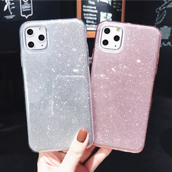 Lovebay For iPhone 11 Case Glitter Bling Candy Color For iPhone 11 Pro Max Lovebay For iPhone 11 Case Glitter Bling Candy Color For iPhone 11 Pro Max Phone Cases Soft TPU Silicone Solid Shiny Back Cover.