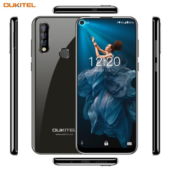"""OUKITEL C17 PRO C17PRO 6.35"""" Android 9.0 Mobile Phone MTK6763 OCTA Core Dual 4G SIM Card Smartphone 3900mAh 5V2A Quick Charge"""