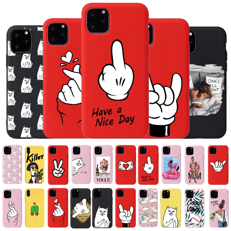 Cool Cute Dog Phone Case For iPhone 6 7 8 Plus X XR XS 11Pro Max Cases For iPhone 11 Pro Soft Silicon Cover Pretty Design