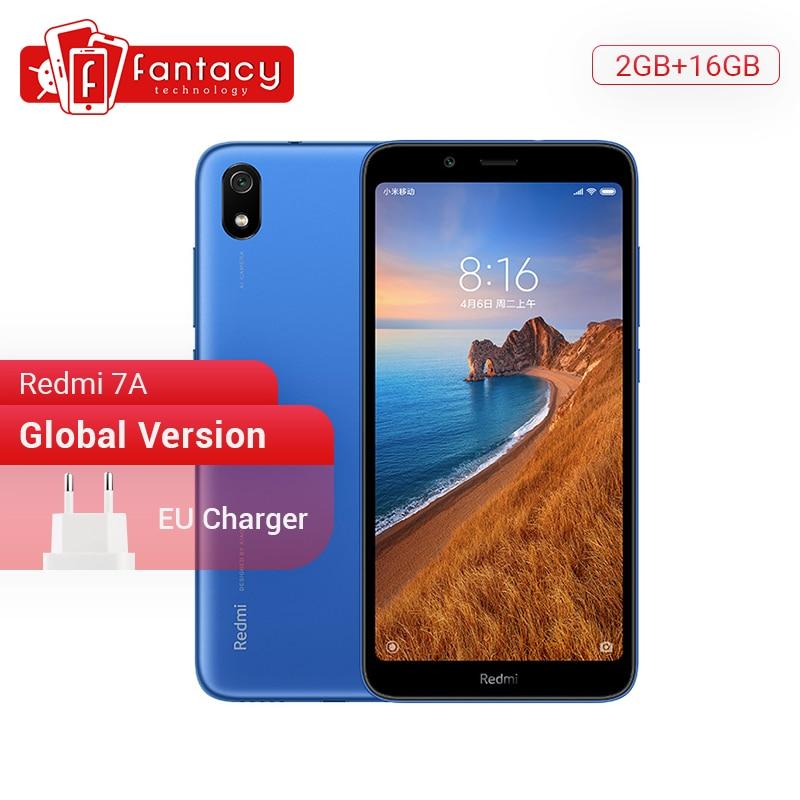 "Global Version Xiaomi Redmi 7A 7 A 2GB 16GB 5.45"" Snapdargon 439 Octa core Mobile Phone 4000mAh 12MP Camera Smartphone"
