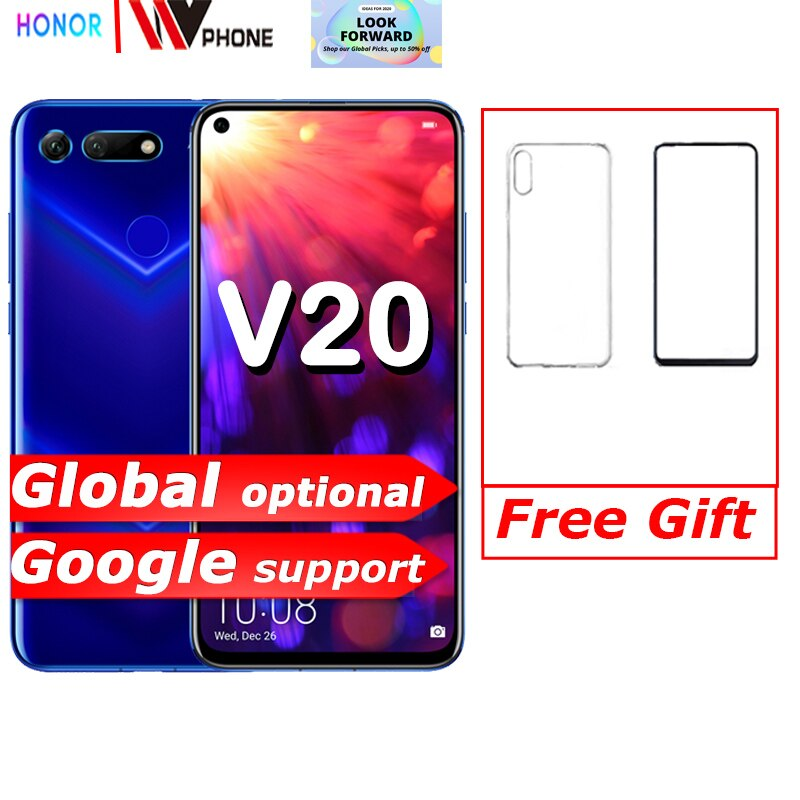 honor v20 Honor View 20 Link Turbo Smartphone Honor V20 Android 9 Support NFC fast charge Mobile Phone